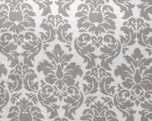 Grey Damask - Flannel Fabric - 5 yards
