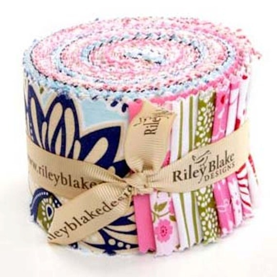 """SALE Song Bird Rolie Polie Jelly Roll 21- 2.5"""" strips  The Complete Song Bird Collection by Carina Gardner for Riley Blake Designs"""
