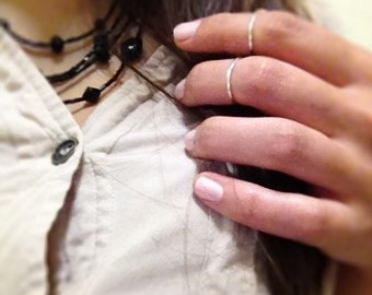 2 STERLING SILVER Rings Size 5-6
