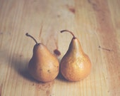 Kitchen Art food photography: Pair of Pears Fine Art Photography Food Art Print Fruit Still life Photography Fruit Kitchen wall art foodie