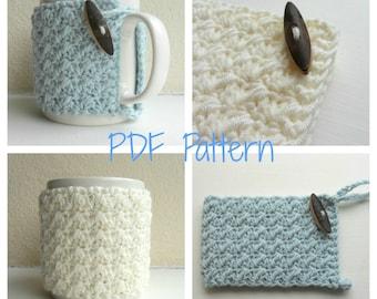 Mug Cozy Crochet Pattern - cup cozy - mug hug PDF