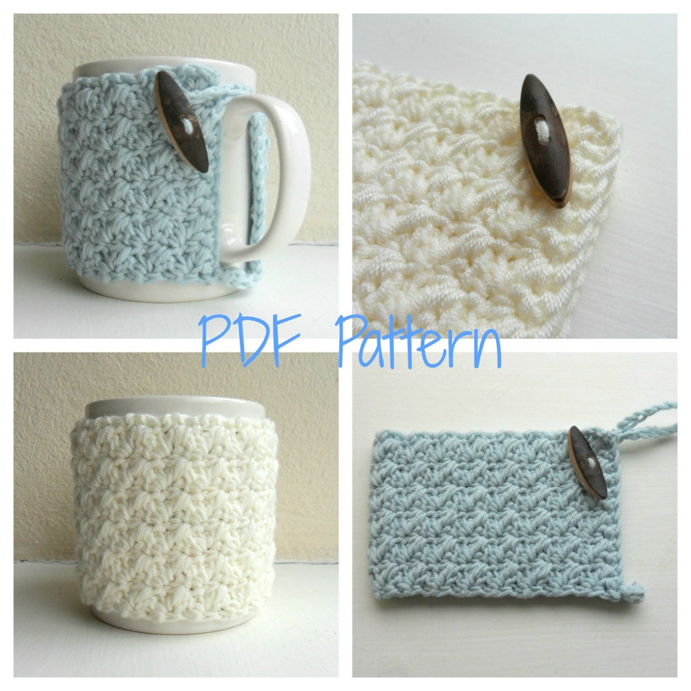 Mug Cozy Crochet Pattern Cup Cozy Mug Hug Pdf From