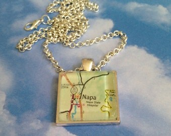 Napa Valley CA Pendant Necklace