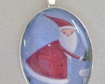 Santa Pendant Necklace