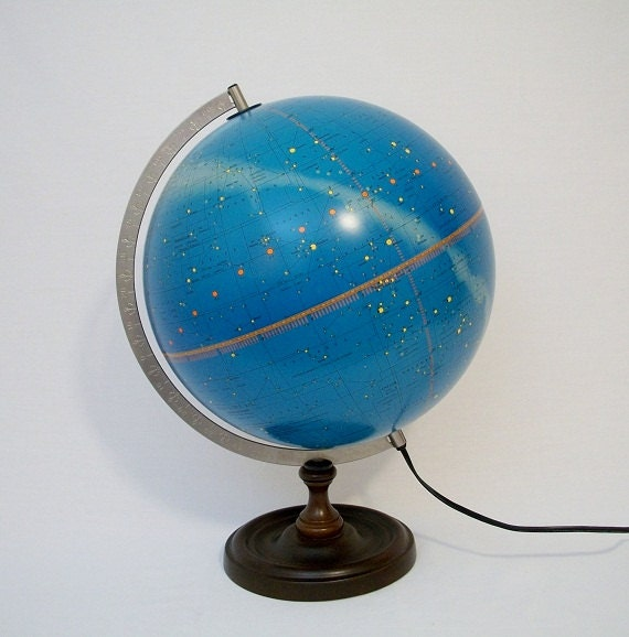 "Vintage 1975 12"" ILLUMINATED Celestial Globe -  Made in Denmark - Stunning"