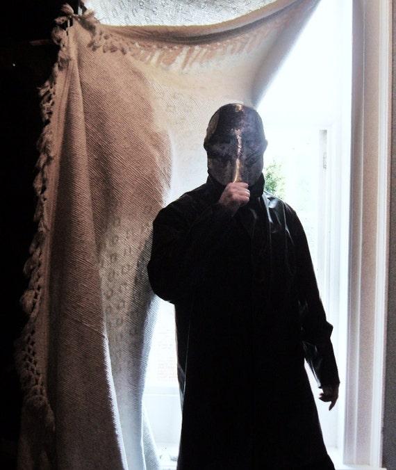 Vintage Rubberised black PVC coat, XL