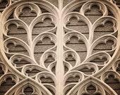 Heart of Stone, English Church photo, travel photo, York Minster, Sepia, cream, earth tones, cathedral, gothic architecture - 8x8 Photograph