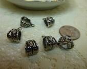 Bails Tibetan Silver or Antique Bronze Bails Quantity 6- 7mm x 13.5mm