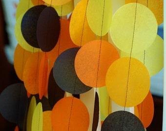 Tissue Paper Garland, Party Garland, Birthday Garland, Halloween Garland, Autumn Garland, Halloween Backdrop:  Halloween