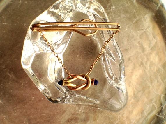 Vintage Men's Reef Knot Rolled Gold Tie Clip