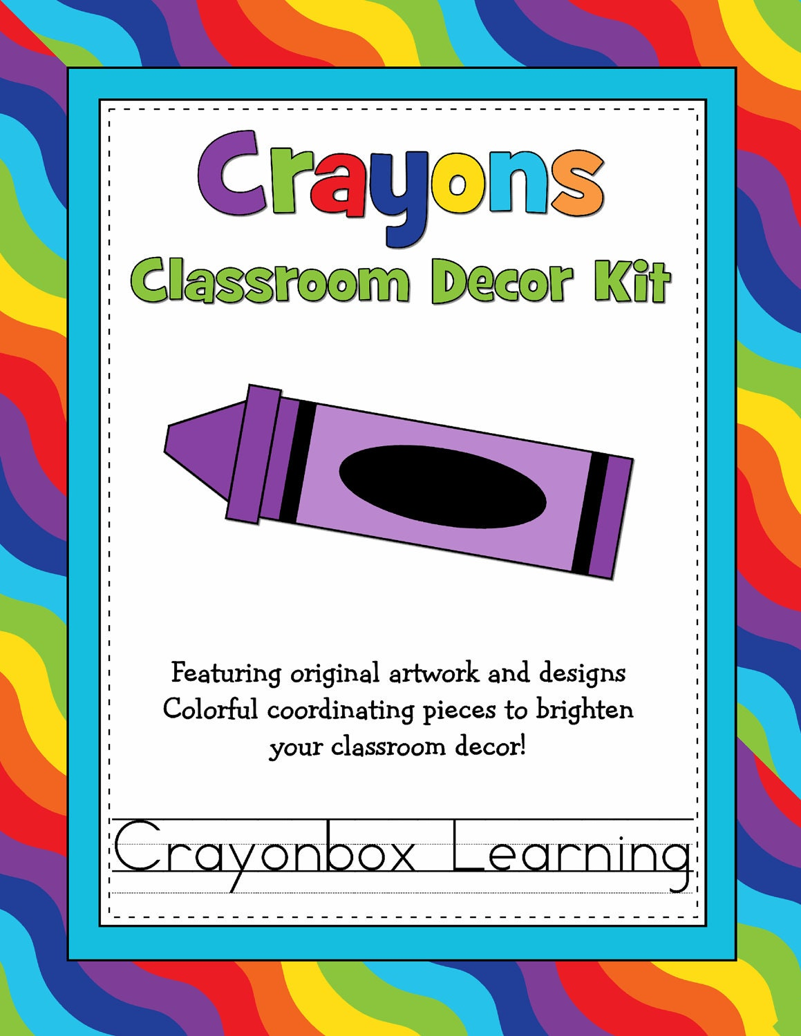 Classroom Decor Kit ~ Crayon classroom decor kit by crayonboxlearning on etsy
