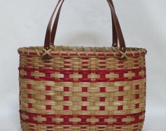 Shopper's Tote-Basket/ Handwoven Basket