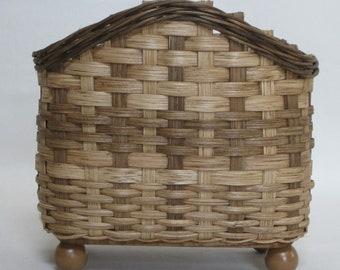 Napkin Basket-Handwoven Basket-Storage Basket-Table Top Basket