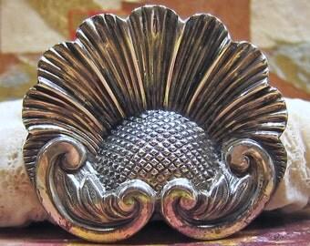 SALE --- Jewel Art Sterling Silver Art Nouveau Style Brooch