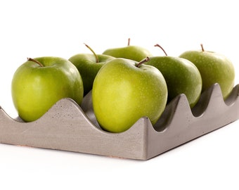 Concrete Hexi-Bowl. Fruit Bowl. Concrete Display Tray