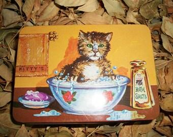 Vintage Tin...Bowl O' Kitty