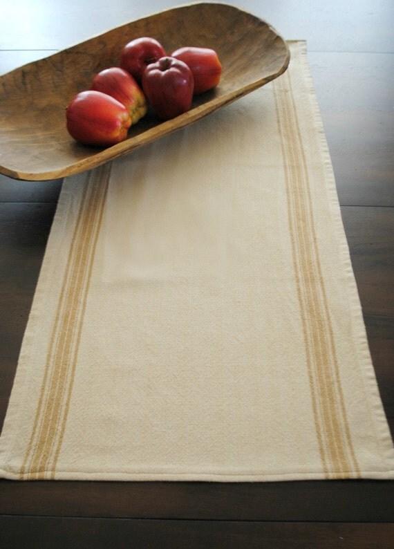 farmhouse table runner- small, caramel stripe