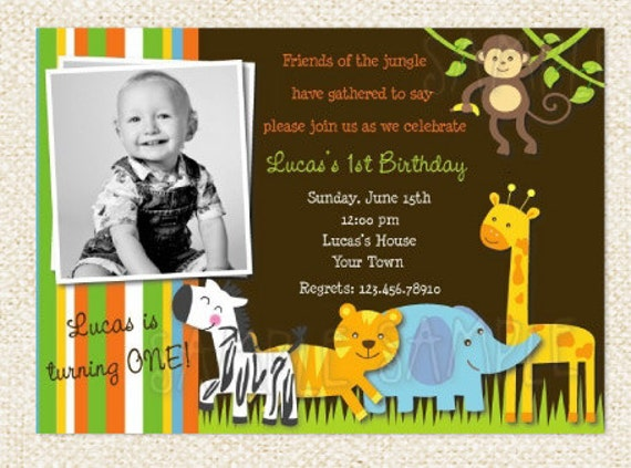 Safari Jungle Animal Birthday Invitations Jungle Birthday