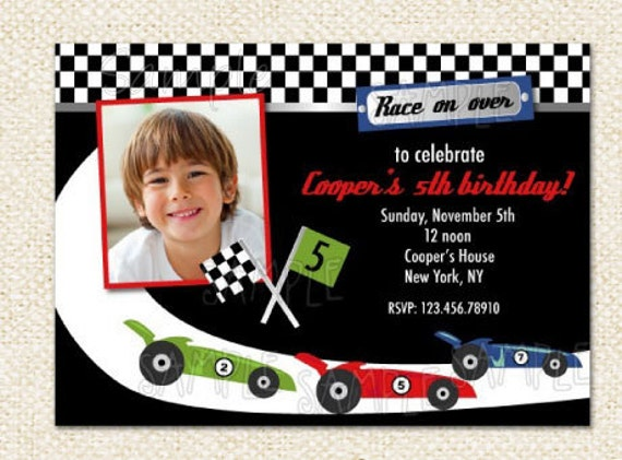 race car birthday invitations by lollipopprints on etsy, Birthday invitations