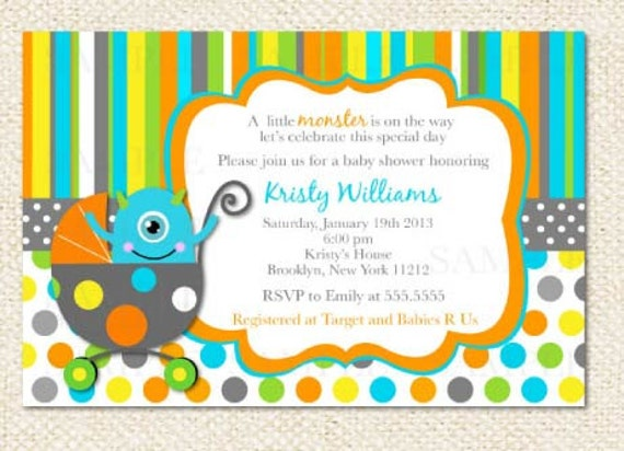 Monsters Inc Baby Shower Invitations as good invitations layout