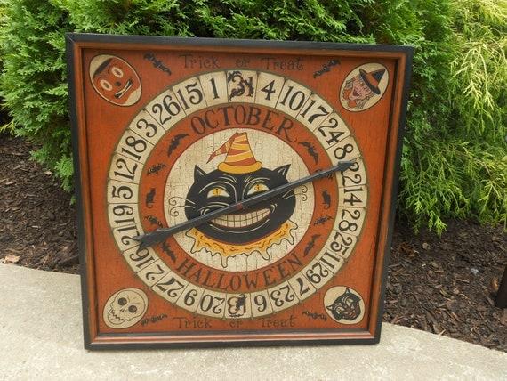 Special Order Reserved for Teresa,  Primitive / Folk Art Halloween Roulette Game Board
