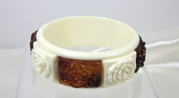 """Sarah Coventry's """"Coffee and Cream"""" Bangle from 1973, Reserved"""