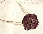 lace necklace -GEORGIA- (deep purple)