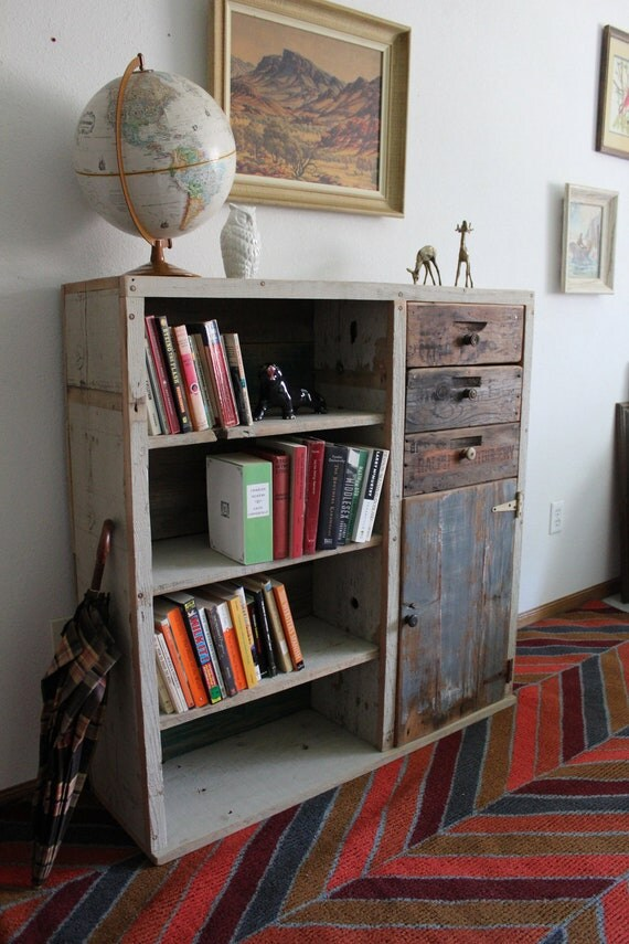 RESERVED FOR JENNA Reclaimed Wood Bookcase Dresser