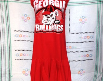 UGA University of Georgia Bulldogs Game Day T Shirt Tee Dress
