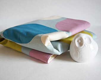 Organic Mod Print Baby Blanket/ Eco Friendly Kids Bedding/ Pastel Colors/ Made To Order