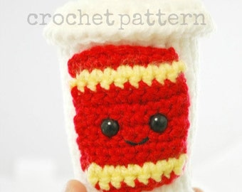 CROCHET PATTERN- Amigurumi Happy Soda