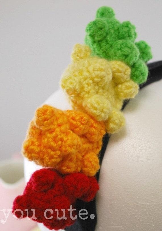 Amigurumi Gummy Bear : Crochet Gummy Bear Headband
