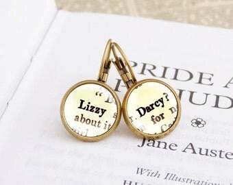 Pride and Prejudice - Literature Earrings