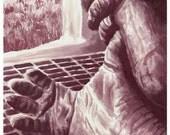 """Wine Painting - """"Aching Feet"""""""