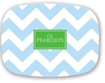 Personalized Melamine Platter / Monogram Tray / Mother of Groom Gift - Wedding/ New Bride / Hostess Gift