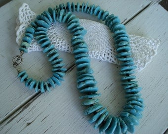 Native American Inspired Turquoise Necklace Southwest Tribal Statement