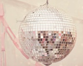 Disco Ball Photography, Sweet Disco, Pastel Pink Art, Silver Disco Ball, Disco Photography Print, Still Life Art, Silver and Pink Wall Art