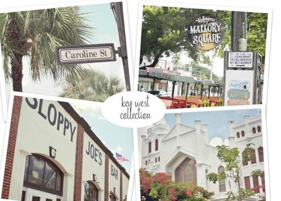 Key West Photography, Key West Print Set,  Key West Prints, Key West Art Set, Key West Photography, Sloppy Joes, Key West Bar Art