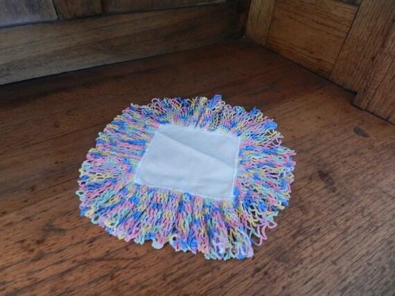 Decorative hand crocheted hankerchief