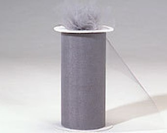 54 inch x 50 yard bolt of Nylon Tulle -- CHARCOAL
