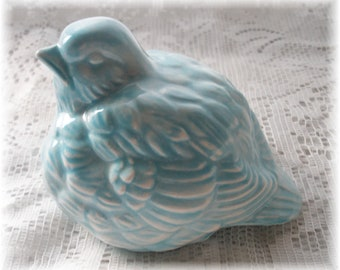 Ceramic Blue Bird Vintage Home Decor Vintage Bird Design Bird Art Figurine Birthday Gift Farm House