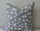 "Kravet Burnet print in Shadow - 16"" - 24"" Square and Lumbar Sizes - Decorative Designer Pillow Cover"