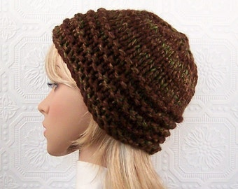 Knit hat - brown knit beanie - women's accessories handmade Sandy Coastal Designs Winter Fashion - ready to ship