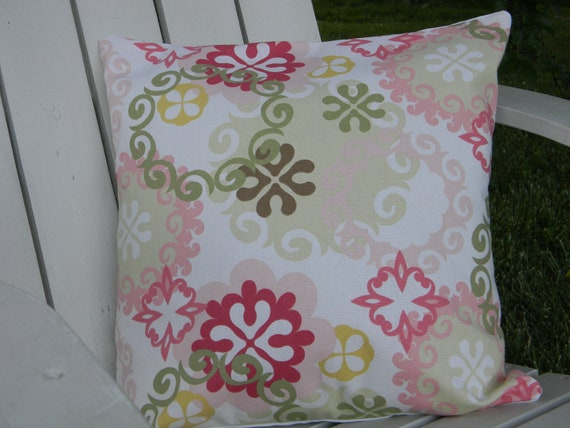 Pair of Beautiful Throw Pillow Covers, Shabby Chic  18 x 18 inches
