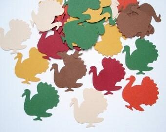 50 Turkey confetti, Thanksgiving party decorations - No885