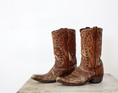 Mens Western Boots // 1970s Durango Boots // Size 10.5