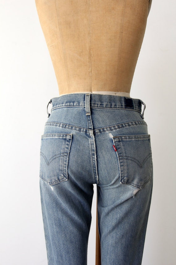 Vintage Levis Jeans / Flared Denim / Size 7 Jr