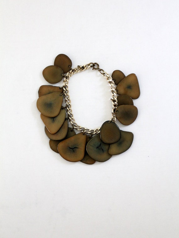 1970s Stone Bracelet // Chained Slice