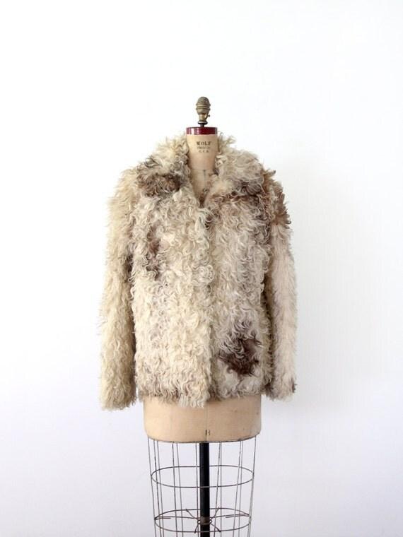 RESERVE.   1960s Fur Coat / Vintage Mongolian Lamb Coat