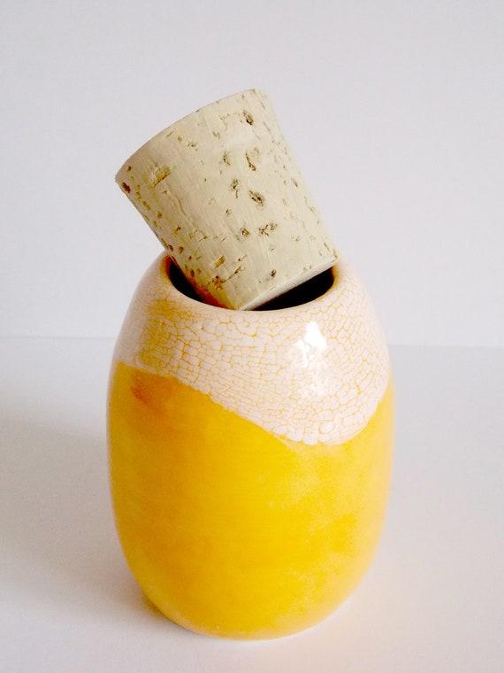 Orange dream corked herb jar